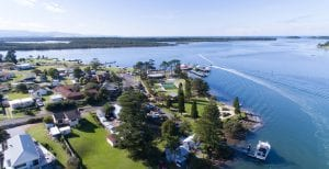 Greenwell Point - Aerial view of Anchor Bay Motel